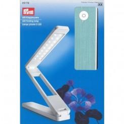 Led folde lampe Hvid, sølv Prym