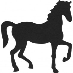 Udstanset Hest + foam dobbeltklæb