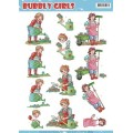3D-ark Bubble girls in garden