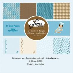 Girls springtime paper pad, By Lene