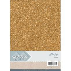 Glitter karton Bronze, 6 stk pakke