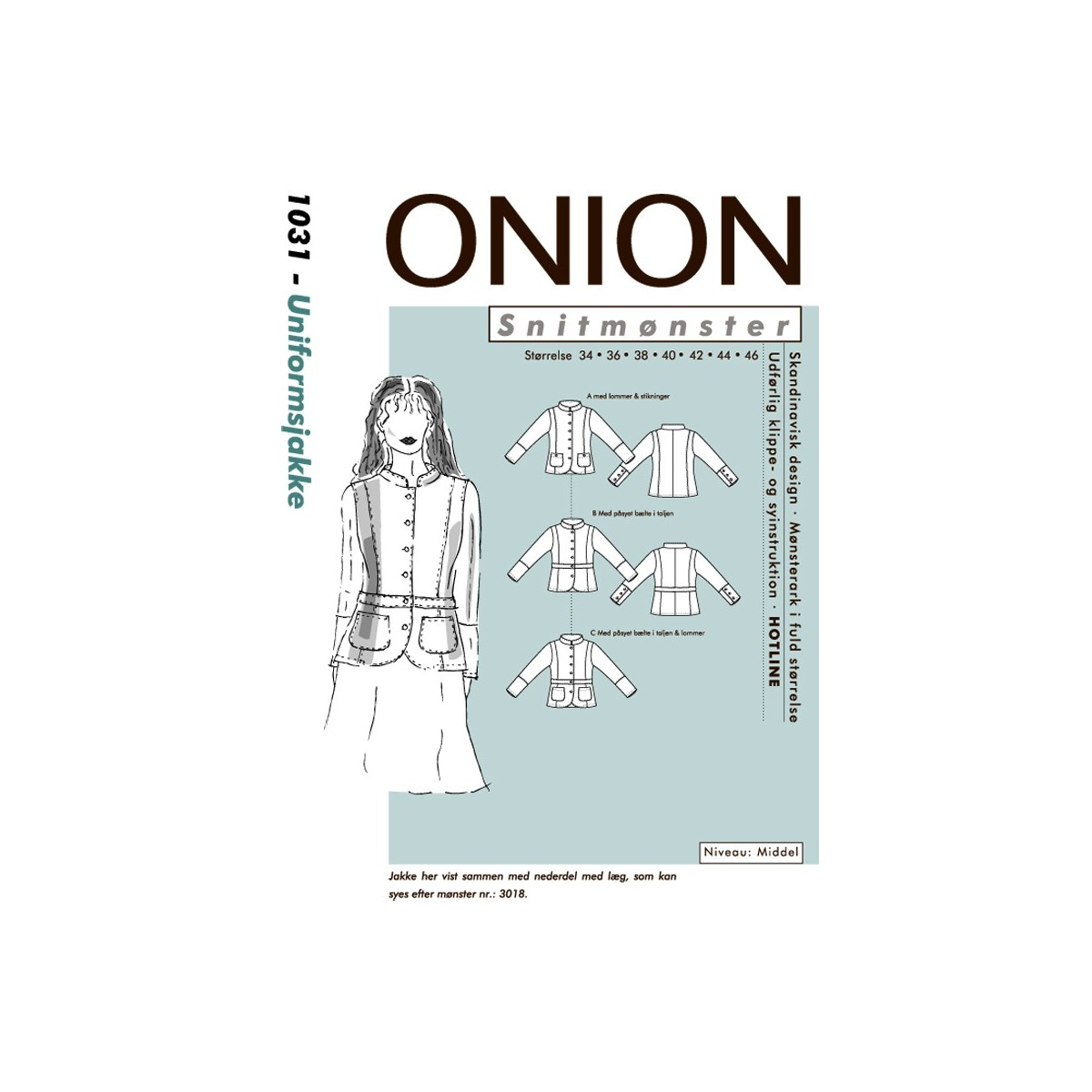 1752f019c Onion mønster 1031 Jakke