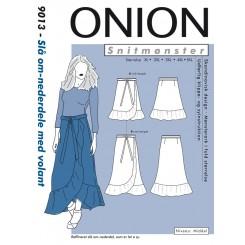 Onion 9013 slå om nederdel store størrelser