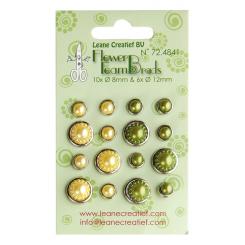 Brads grøn / gul med små perler