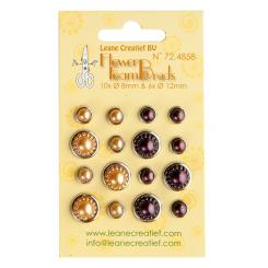 Brads Creme / lilla med små perler