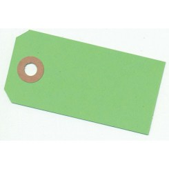 Manilla mærker Grøn, 4 x 8 cm