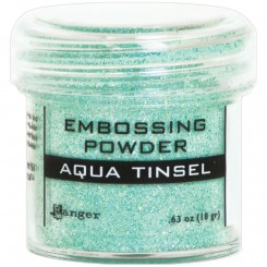 Embossing pulver Aqua Tinsel