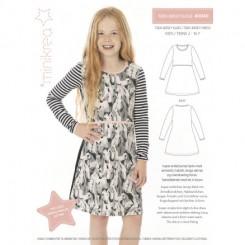 Teen kjole mønster, Minikrea 40040