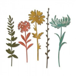Wildflower stems dies Tim holtz