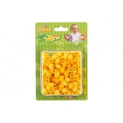 Maxi perler gul, 250 stk blisterpak