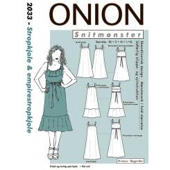 Onion mønster 2033 strop kjole