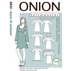 Onion mønster 2035  kjole til strik