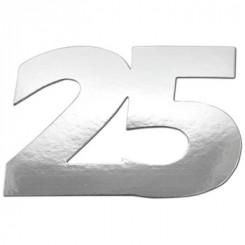 Tal 25 i sølv 7 x 10,5 cm