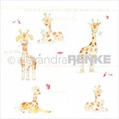 Giraffe scrapbooking papir, Renke