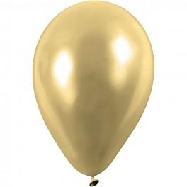 Ballon Guld rund 23 cm, 8 stk