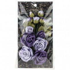 Papir rose buket lilla, graphic45