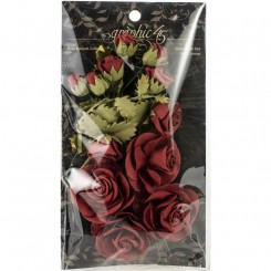 Papir rose buket Bordeaux, graphic45