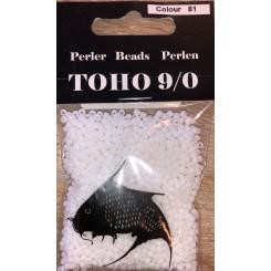 Toho perler 9/0  color 81 Hvid