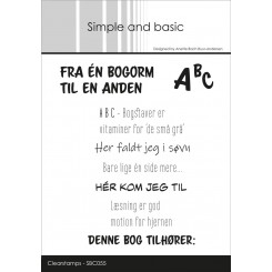 Fra en bogorm stempel, Simple and basic