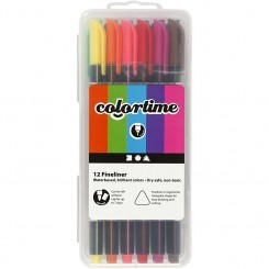 Colortime 12 fineliners 0,7 mm