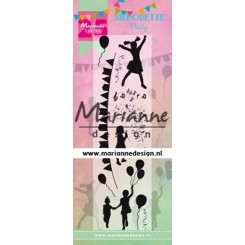 Silhouette party stempel, MD