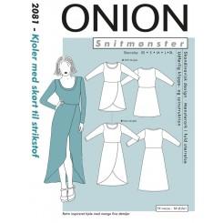 Onion snitmønster nr. 2081 Kjole med skørt