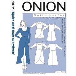 Onion snitmønster nr. 9019 Kjole med Skørt