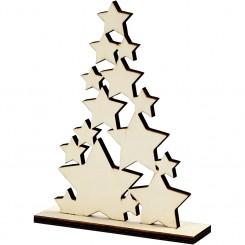 Christmas tree stars, Træ