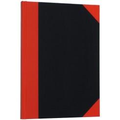 Kina bog A6, 80 sider, Rød / Sort