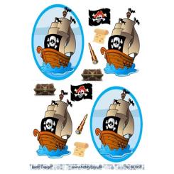 Sørøver skib 3-D ark, Barto D