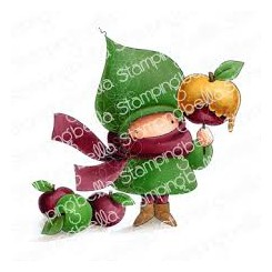 Caramel apple Girl stempel