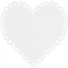 Hjerte blonde hvid metallic