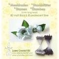 Blomster drager Sort / Sølv
