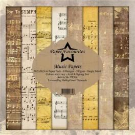 Music papes 8 design, 30,5 x30,5 cm