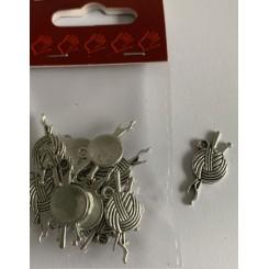 Charms Garnnøgle 12 stk Sølv