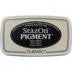 StazOn pigment ink, Piano black