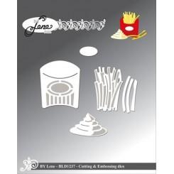 Pomfrit + box dies, by Lene