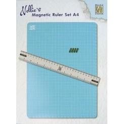 Magnetisk måtte og lineale+magneter
