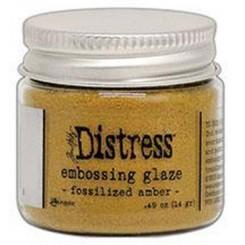 Embossing glaze Fossilzed amber