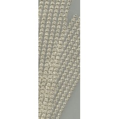 Halvperler 6 mm x 320 stk, Sølv