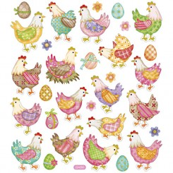 Sticker påske høner