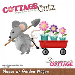 Mouse + garden wagon dies. CottageC