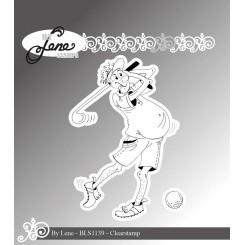 Maskulin golfspiller fra by Lene