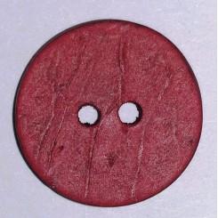 Knap kokos Rød 15 mm