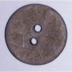 Knap kokos Koks Grå 15 mm
