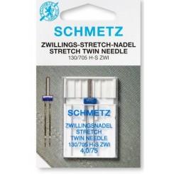 Tvillingenål stretch 4,0/75 Schmetz