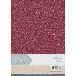 Glitter karton Bordeaux 6 ark A4