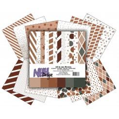 Brown designer blok 15 x 15 cm NHH