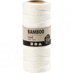 bamboo snor Hvid 1 mm x 65 M