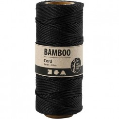 bamboo snor Sort 1 mm x 65 M